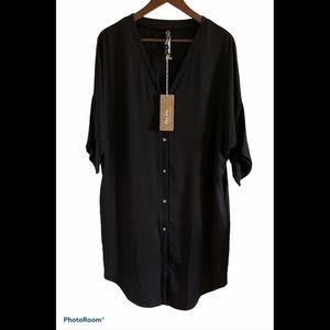 Melow Melissa Boldue short sleeve oversized button up dress